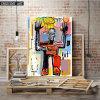 Het Af:drukken van de Foto van de robot op Canvas
