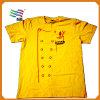 T-shirt de coton de qualité avec la coutume
