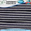 Fabrik-Indigo-Blau Striped den Twill, der gestricktes Denim-Gewebe für Gamaschen strickt