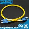 Sc de câble de connexion de fibre au jaune duplex uni-mode de Sc