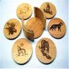 Sottobicchiere di legno della tazza del sughero di alta qualità promozionale
