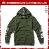 Commercio all'ingrosso operato di Hoodies di verde dell'esercito per gli uomini e le donne (ELTHI-48)