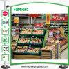 Estante de visualización del metal y de madera de la legumbre de fruta del supermercado