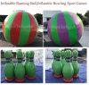 Promozione gonfiabile di vendita calda che esegue il gioco di sport di Ball&Bowling