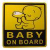 Las etiquetas engomadas reflexivas que expiden impermeabilizan etiquetas engomadas reflexivas del coche de la carta del bebé a bordo