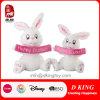 Ostern-Geschenk-Plüsch-Kaninchen-Spielzeug mit Fahne