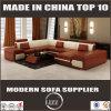 Form-Leder-Sofa der moderne Möbel-Schnittsofa-gesetzten Entwurfs-U