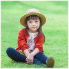 100%のウールの女の子のための赤い編まれた子供の衣服