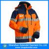 Напольная высокая куртка зимы безопасности видимости с отражательными нашивками
