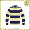 Chemise de polo rayée faite sur commande de longue chemise de coton de qualité pour les hommes