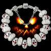 Bracelete de prata Ae51 do grânulo do encanto de Halloween