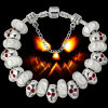 Halloween-silbernes Charme-Korn-Armband Ae51