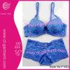 Les sous-vêtements sexy et la lingerie de lacet bleu transparent pour des femmes placent (P1053)