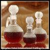 3 tipos de botella de vino de cristal clara con la tapa de cristal