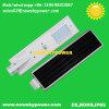 Preço de fábrica de tudo em uma luz de rua da potência solar