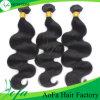 Extensão do cabelo humano do cabelo do Virgin de Remy dos Peruvian do preço de grosso 100%
