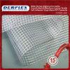 Transparente PVC Tarpaulin Clear Vinyl Polyester Tecido para Tent Window