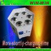 Radio con pilas DMX Rgbaw+UV 6 in-1 de la IGUALDAD de Uplight