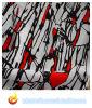 Tejido impreso del poliester para el vestido de las mujeres (XY-P20150032S-2))