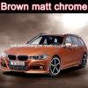 Neuestes Model Brown Chrome Matt Car Vinyl, Super Matt Car Sticker Chrome Matt mit Size 1.52X20m Each Roll