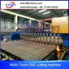 Máquina de estaca (reta) da flama da tira do CNC do pórtico da fabricação de metal para o feixe de H