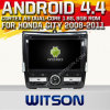 Carro DVD do Android 4.4 de Witson para a cidade 2008-2011 de Honda com A9 sustentação do Internet DVR da ROM WiFi 3G do chipset 1080P 8g