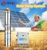 pumpeagua-Installationssätze Gleichstrom-24V u. 48V Solarfür Brasilien-Bewässerung eingetauchte Pumpe für Sonnensystem für Bewässerung-die Solarwasser-Abgabepreis-Landwirtschaft im Sambia