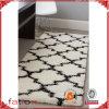 Bereichs-Wolldecke-Shaggy Teppich-beige u. schwarze handgemachte weiche Gefühls-Seitentriebe der Noppe-Wolldecke-5*8