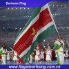 중국은 고품질 도매 폴리에스테 수리남 깃발을 만들었다