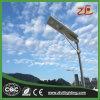 luz de rua solar Integrated do painel solar de 40W IP67, luz de rua do diodo emissor de luz completa
