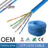 Cable de LAN del PVC de Ethernet 4pairs UTP CAT6 de Sipu para la comunicación