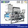 Prensa de filtro de la correa del deshidratador del lodo para las aguas residuales de la fabricación de papel