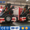 Straßenlaterne-Mann-Aufzug-LKW/Schlussteil eingehangener hydraulischer Kran 5 Tonne