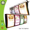 Restaurant annonçant le cadre léger de panneau de menu de DEL