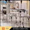 Tabella pranzante di marmo moderna con i piedi dell'acciaio inossidabile