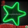 12V 30cm LEDの星の形のクリスマスの屋内および屋外の使用のためのネオンモチーフの装飾の吊り下げ式ライト