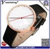 人のためのYxl-545方法革バンドの卸売の腕時計、贅沢な日本Movt水晶腕時計のステンレス鋼の背皮の腕時計