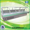 Tienda de delicatessen y Meat Display Refrigerator de Cooling Curved Glass del aire