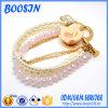 Bracelete cor-de-rosa luxuoso barato do grânulo