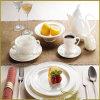 9 lignes blanches de rotation de vaisselle de porcelaine de PCS pour l'hôtel
