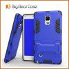 Couvertures combinées de mobile de stand pour la note 4 de galaxie de Samsung