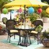 Insieme esterno di vimini dei bistrot del patio del rattan della mobilia dell'hotel del giardino