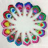 Het klassieke Exotische Kledingstuk siert de Kleurrijke Oorringen van het Borduurwerk