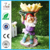 Polyresin Bird Bath/Bird Feeder para o jardim Decoration