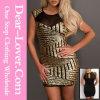 Сексуальное Skintight платье повязки коктеила V-Шеи