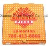 Weiß außen und natürlicher/Kraftpapier-Innenpizza-Kasten (PB160626)