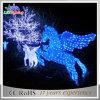 Luz decorativa do Natal solar ao ar livre do diodo emissor de luz da decoração do cavalo da paisagem