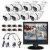 Surtidores de la cámara del CCTV del sistema de seguridad de las cámaras del CCTV H. 264DVR 8