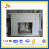Marble blanc Stone Carving Fireplace pour Indoor