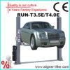 Подъем автомобиля столба емкости 2 Hotsale 4t поднимаясь